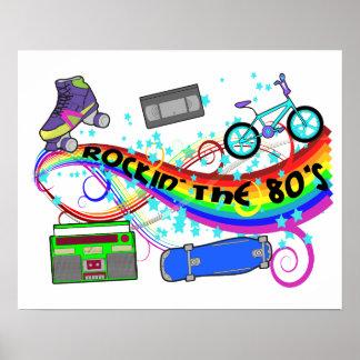 Poster Rockin les années 80