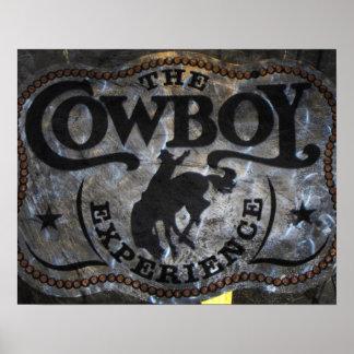 Poster rodéo de cowboy de cheval de ruée de pays