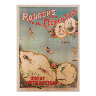 Poster Rodgers et Mlle Clementins, grande attraction