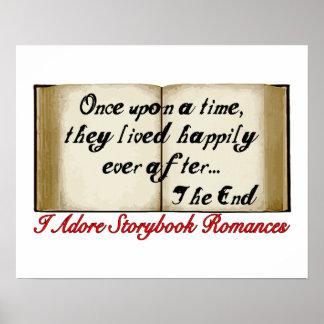 Poster Romances de livre de contes heureusement pour
