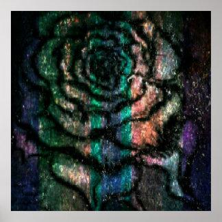 Poster Rose coloré