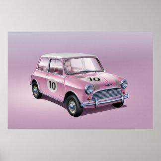Poster Rose d'affiche de Mini Cooper S