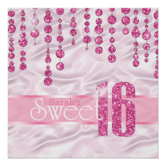 Poster Rose ID260 de sweet sixteen de bijou de satin