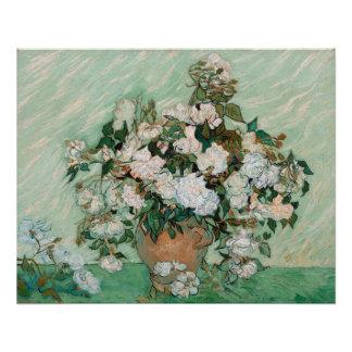 Poster Roses de Vincent van Gogh  , 1890