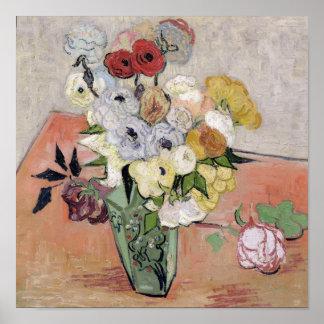 Poster Roses de Vincent van Gogh | et anémones, 1890