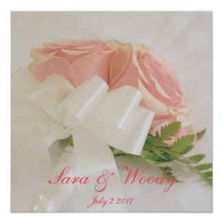 Poster Roses roses de mariage