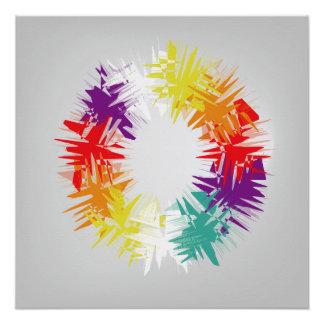 Poster Roue de couleurs
