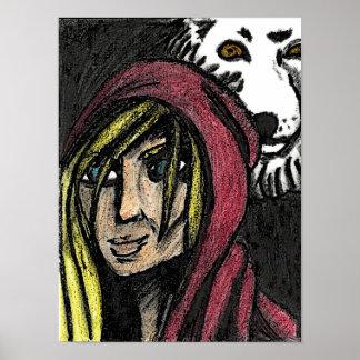 Poster Rouge et l'affiche de loup