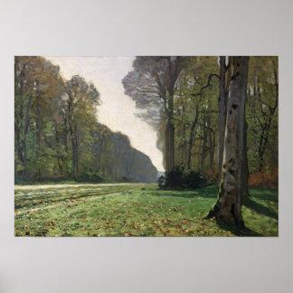 Poster Route de Claude Monet | à Bas-Breau, Fontainebleau
