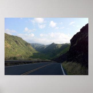 Poster Route de Hana, Maui, Hawaï