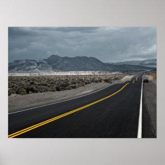 Poster Route de route - crêtes de vague la Californie