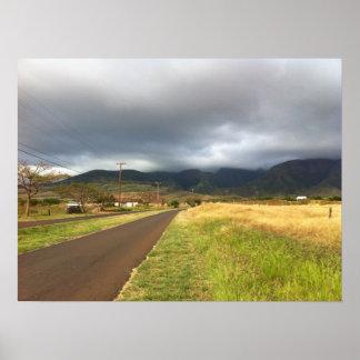 Poster Route près de Lahaina, Maui, Hawaï
