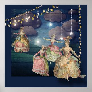 Poster Royals français dansant sous les lumières de