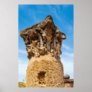 Poster Ruines romaines de colonne