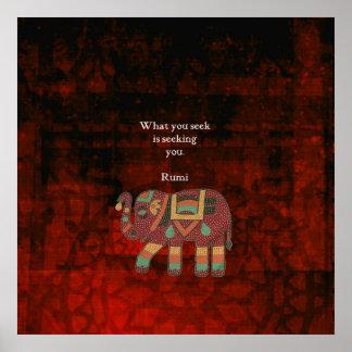Poster Rumi inspiré ce qui vous cherchez la citation
