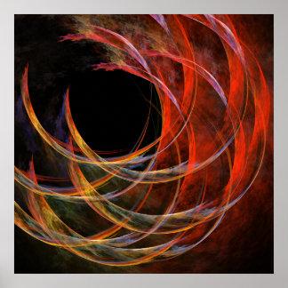 Poster Rupture de la copie d'art abstrait de cercle