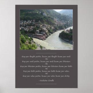 Poster Sagesse de Mahatma Gandhi