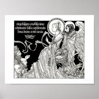 Poster Saint Catherine contestant les 50 philosophes