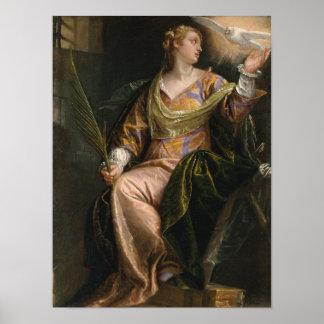 Poster Saint Catherine de l'Alexandrie en prison