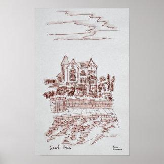 Poster Saint-Enogat historique du manoir  , Dinard, la