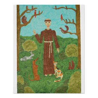 Poster Saint Francis d'Assisi