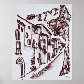 Poster Saint-Guilhem-Le-Désert des Chambres |, France