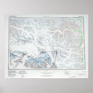 Poster Saint topographique vintage Elias de bâti