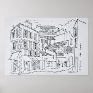 Poster Saint-Tropez | de achat la Côte d'Azur, France
