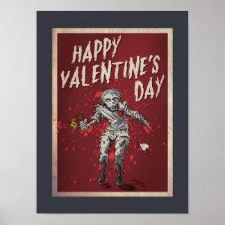 Poster Saint-Valentin de zombi