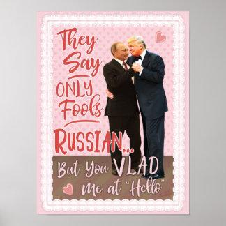 Poster Saint-Valentin drôle de Donald Trump Vladimir