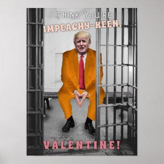 Poster Saint-Valentin drôle de mise en accusation de