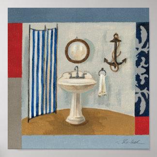 Poster Salle de bains orientée nautique