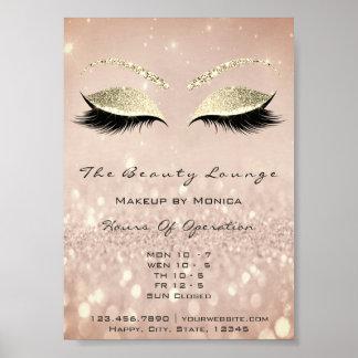 Poster Salon de beauté de parties scintillantes de