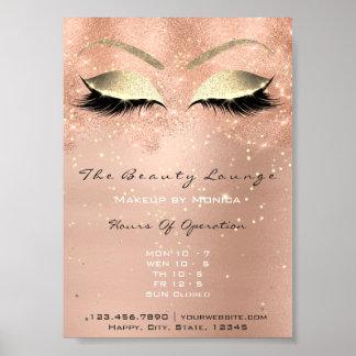 Poster Salon de beauté rose de parties scintillantes de