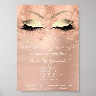 Poster Salon de beauté scintillant de parties