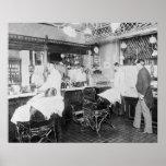 Poster Salon de coiffure de New York City, 1895. Photo