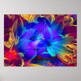 Poster Salutation de fleurs