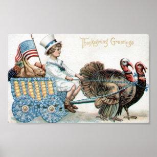 Poster Salutations de thanksgiving