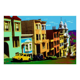 Poster San Francisco Nob Hill 69 - copie d'art de bruit