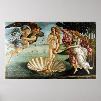 Poster Sandro Botticelli iconique la naissance de Vénus