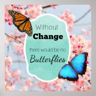 Poster Sans changement aucunes fleurs de cerisier de