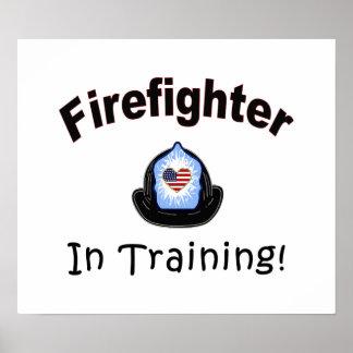 Poster Sapeur-pompier dans la formation