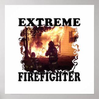 Poster Sapeur-pompier extrême