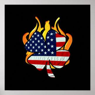 Poster Sapeurs-pompiers américains irlandais