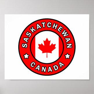 Poster Saskatchewan Canada