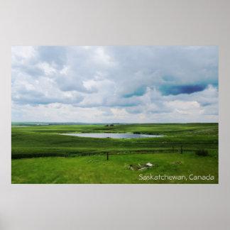Poster Saskatchewan, Canada | les prairies