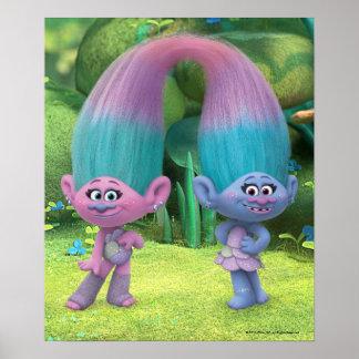 Poster Satin et Chenille 2 des trolls |