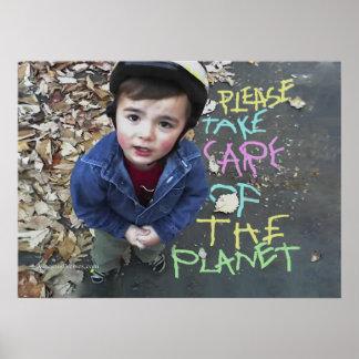 Poster Sauvez la planète