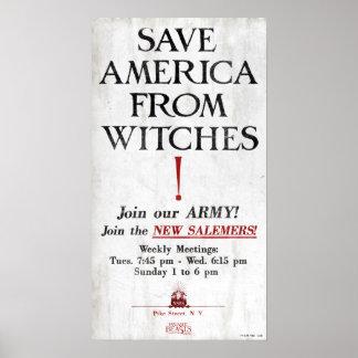 Poster Sauvez l'Amérique des sorcières