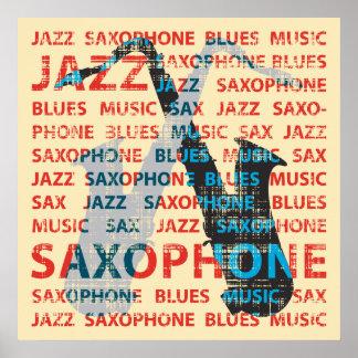 Poster Saxophone de jazz